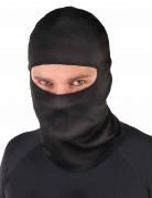 Cagoule ninja noire adulte