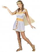 Déguisement déesse grecque blanche et or femme