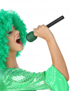 Micro de chanteur vert