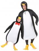 Déguisement de couple pingouin père et fils