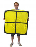 Déguisement Tetris™ jaune forme O adulte Morphsuits™