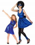Déguisement de couple disco bleu mère et fille