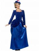 Déguisement princesse victorienne bleue femme