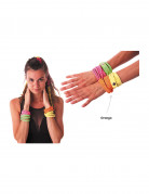 Bracelet fashion orange fluo adulte