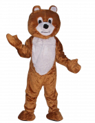 Mascotte ours brun maxi tête luxe adulte