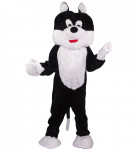 Mascotte chat maxi tête luxe adulte
