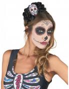 Serre tête Crâne Multicolore Dia De Los Muertos adulte