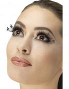Faux cils noirs papillon adulte