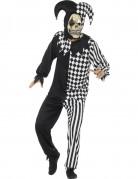 Déguisement fou du roi diabolique noir et blanc homme Halloween