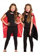 Cape noire et rouge enfant Halloween