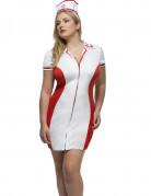 Déguisement infirmière rouge et blanche femme