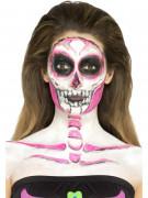 Maquillage latex squelette phosphorescent femme Halloween