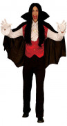 Dracula Halloween Costume Vampire black-red-white