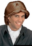 70s Curly Wig for Men brown