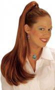Pigtail hair extension brown