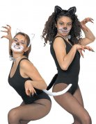 Kit 3 accessoires déguisement chat noir femme