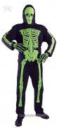 Déguisement squelette fluo Halloween noir-vert