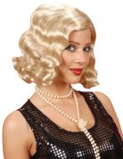 Perruque ondulée années 20 blond