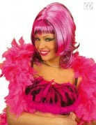 Smooth Bob Wig with Fringe pink