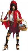 Déguisement petit chaperon rouge zombie femme Halloween