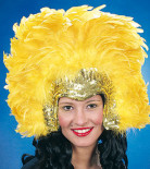 Samba Feather Headpiece yellow
