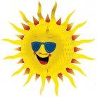Décoration soleil en papier 60cm