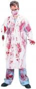 Horror Doctor Halloween Costume white-red
