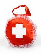 Sac à main d'infirmière rouge et blanc