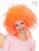 Perruque reine des fées orange fille