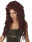 Perruque femme Medusa rouge foncé DE