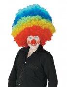 Perruque clown géante multicolore