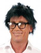 Perruque coupe courte noire homme
