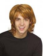 Perruque homme blond vénitien cheveux longs DE