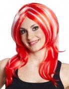 Anime Manga Gothic Punk Wig red-white