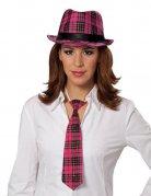 Chapeau Fedora femme rose-noir DE