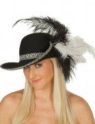 Chapeau mousquetaire noir femme