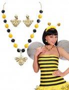 Bijoux fantaisie abeille noire jaune femme