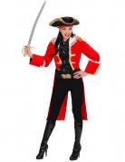 Déguisement capitaine pirate femme rouge