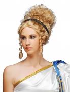 Perruque bouclée de la Déesse grecque antique Hélène brun clair
