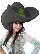 Chapeau Cowboy géant rigolo noir