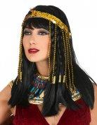 Bandeau sequins serpent égyptien doré femme