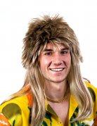 Mullet Men's Wig brown-blonde