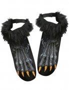 Couvre-chaussures pieds de loup-garou