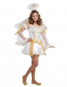 Déguisement ange blanc or femme