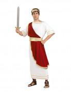 Costume romain César blanc et rouge homme