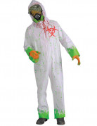 Déguisement zombie radioactif Halloween adulte
