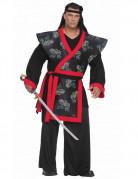 Déguisement homme Samouraï XXXL noir rouge