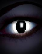 Lentilles fantaisie UV œil reptile blanc 1 mois adulte