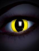 Lentilles fantaisie UV œil reptile jaune 1 mois adulte