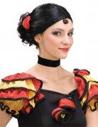 Perruque noire danseuse flamenco DE